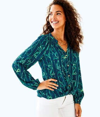 Lilly Pulitzer Womens Button Front Elsa Top