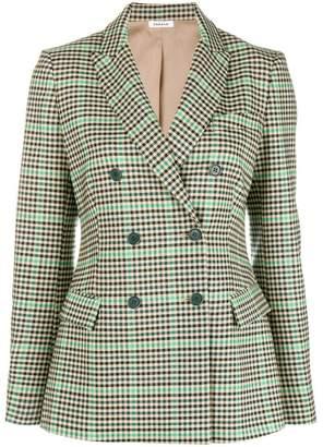 P.A.R.O.S.H. checkered print jacket