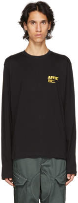 Affix Black Logo Print Long Sleeve T-Shirt