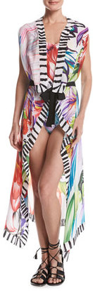 Gottex Spring Embrace Printed Silk Pareo, Multicolor $198 thestylecure.com