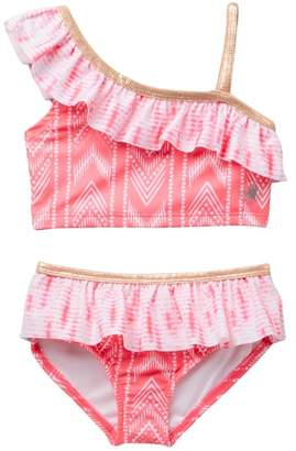 Body Glove Rose Print 2 PC Swimsuit (Toddler)