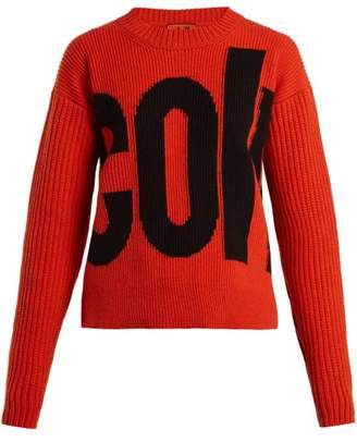 Colville - Logo Wool Sweater - Womens - Orange Multi