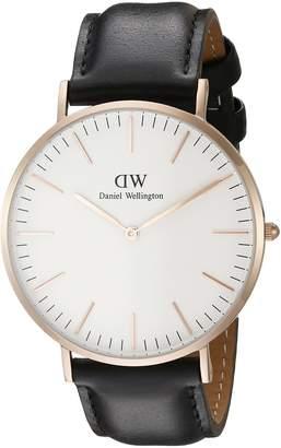 Daniel Wellington Men's Black/ Leather Watch