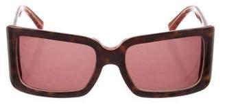 Etro Tortoiseshell Square Sunglasses