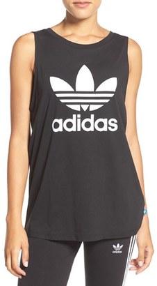 Women's Adidas Originals Trefoil Logo Relaxed Fit Tank $30 thestylecure.com