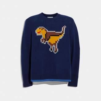 Coach Pixel Rexy Intarsia Sweater