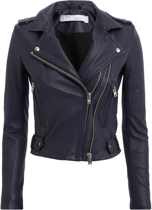 IRO Jett Navy Leather Jacket