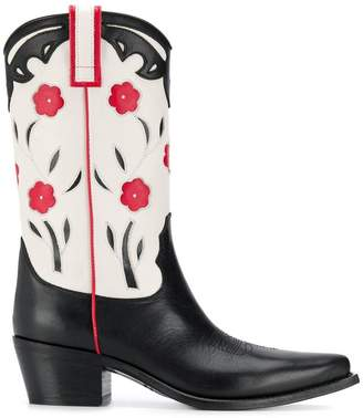 Semi-Couture Semicouture floral cowboy boots