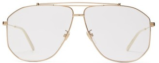 Gucci Aviator Metal Glasses - Mens - Gold