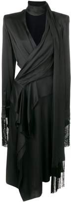 Alexander McQueen draped wrap dress