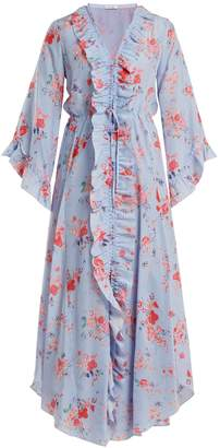 Vilshenko Maddison button-down silk-habotai dress