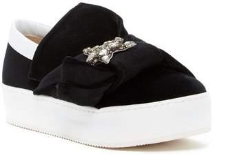 N°21 N.21 Velvet Platform Slip-On Sneaker