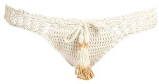She Made Me Hira Crochet Bikini Briefs - Womens - Cream