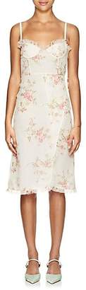 Brock Collection Women's Osanna Floral Silk Midi-Dress - 110- Open White