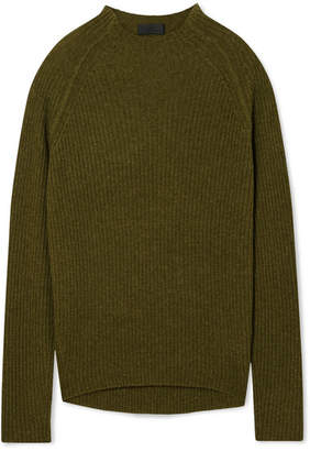 Nili Lotan Rylan Ribbed Cashmere Sweater - Green