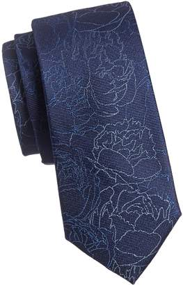 Calvin Klein Abstract Floral Silk Tie