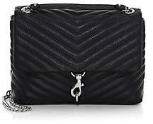 Rebecca Minkoff Women's Edie Leather Flap Shoulder Bag