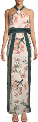 Style Stalker Stylestalker Aries Halter-Neck Floral Column Dress