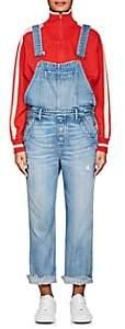 GRLFRND Women's Alek Denim Straight Crop Overalls - Blue