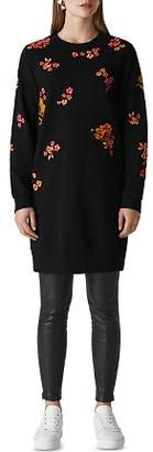 Whistles Bloom Embroidered Sweater Dress