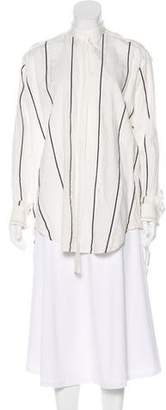 Bassike Stripe Button-Up Blouse