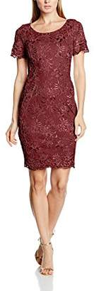 Gina Bacconi Women's Embroidered Oriental Floral Dress
