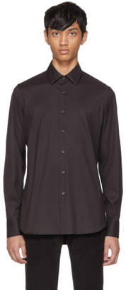Prada Black Poplin Signature Shirt