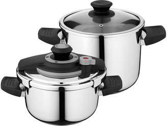 Berghoff Vita 18/10 Stainless Steel 4-Piece Pressure Cooker Set - 7.4 qt, 4.2 qt.