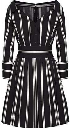 Alice + Olivia Striped Cotton Mini Shirt Dress