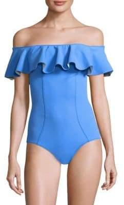 Lisa Marie Fernandez One-Piece Mira Ruffle Swimsuit