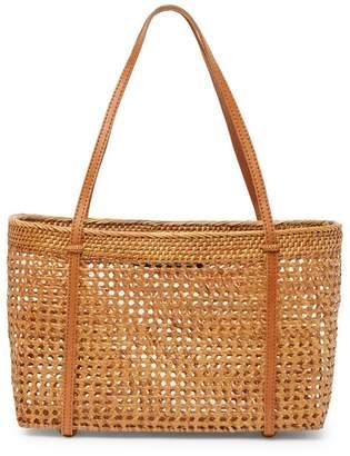 Josie Pink Haley Net Open Weave Basket Bag