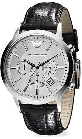 Emporio Armani Slim Stainless Steel Chronograph Watch