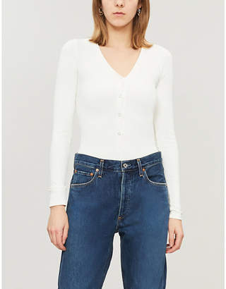 Good American High-neck ribbed jersey body