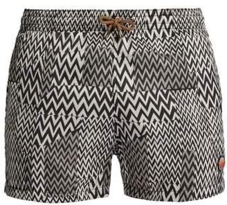 Missoni Mare - Zigzag Knit Swim Shorts - Mens - Black White