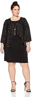 Tiana B Women's Plus Size Novelty Jacket Dress