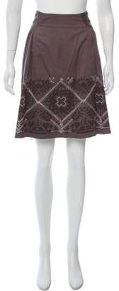 Philosophy di Alberta Ferretti Embroidered Knee-Length Skirt w/ Tags
