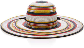 Yestadt Millinery Martinique Striped Straw Sunhat