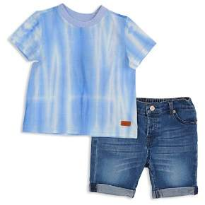 7 For All Mankind Boys' Tie-Dyed Tee & Cuffed Shorts Set - Little Kid