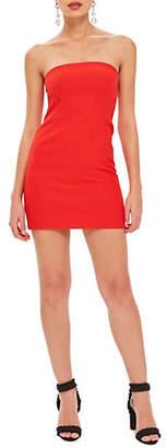 Topshop Clean Seam Strapless Mini Dress