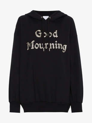 Ashish Good Mourning bead embellished hoodie