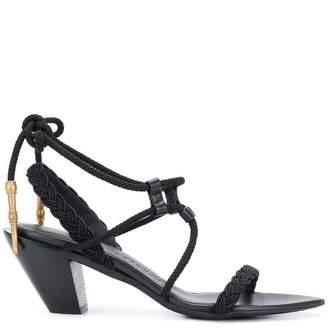 A.F.Vandevorst braided trim sandals