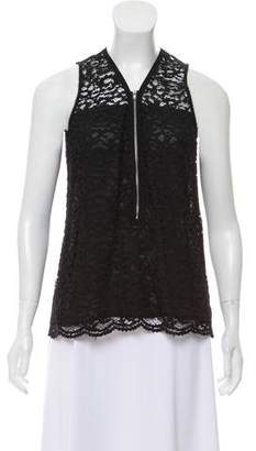 The Kooples Lace Sleeveless Top