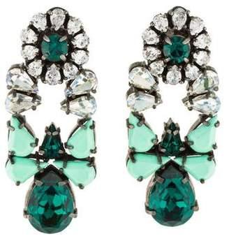 Shourouk Mia Crystal Drop Earrings