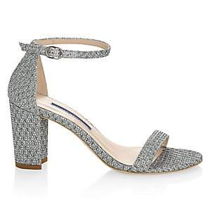 Stuart Weitzman Women's Nearlynude Metallic Block-Heel Sandals