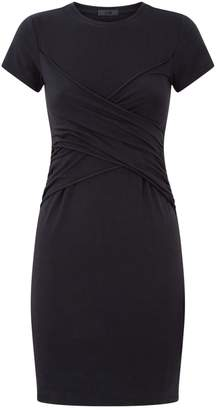 ATM Anthony Thomas Melillo Cotton Wrap-Front Dress