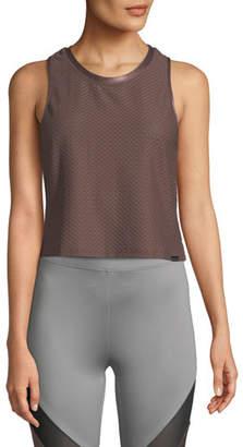 Koral Activewear Crescent Scoop-Neck Crop Top