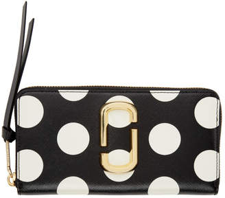 Marc Jacobs Black Polka Dot Snapshot Standard Continental Wallet