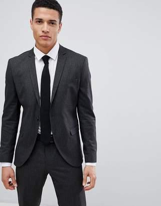 Selected Suit Jacket In Pinstripe