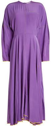 Natasha Zinko Silk Dress with Crystal Embellishment