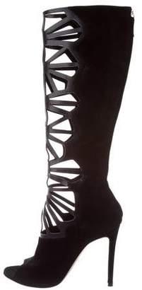 Alejandro Ingelmo Dia Caged Knee-High Boots